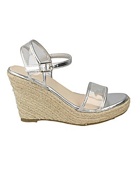 Perspex Espadrille Wedge Standard Fit