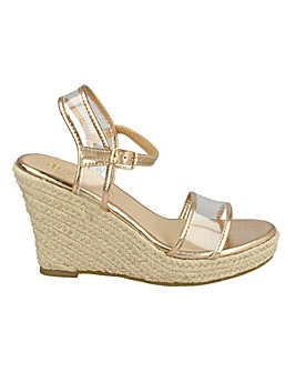 e6e061cdc124 Perspex Espadrille Wedge Standard Fit