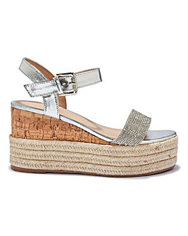 Diamante Strap Wedge Standard Fit