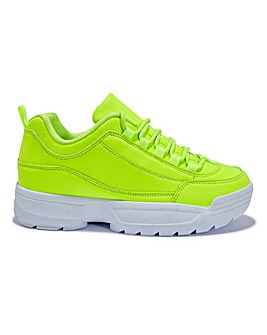 Neon Chunky Trainers Standard Fit