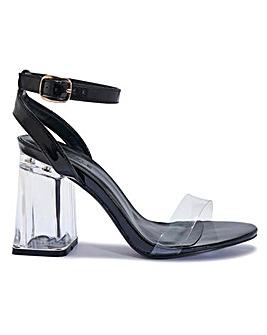Perspex Block Heels Standard Fit