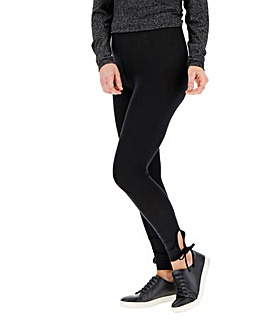 Ankle Tie Stretch Jersey Leggings
