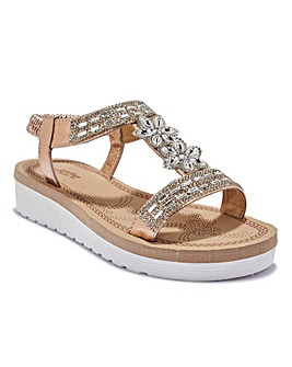 Studded T-Bar Sandal Standard Fit