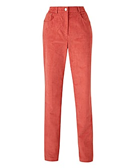 Petite Corduroy Straight Leg Trousers Regular