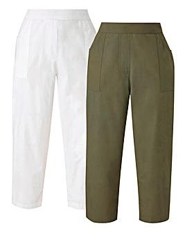 PK2 Woven Crop Trousers Reg