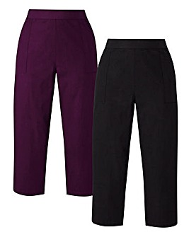 Black/White Pack of 2 Woven Trousers