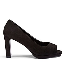 Deena Peep Toe Court Extra Wide Fit