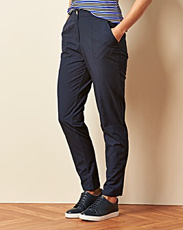 Basic Cotton Casual Trousers Regular