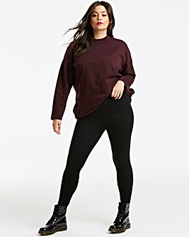 High Waist Cotton Rich Jersey Leggings