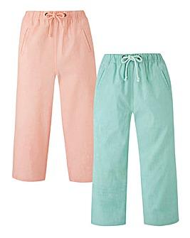 PK2 Woven Crop Trousers