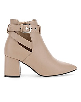 Christa Strap Heeled Boot Wide Fit