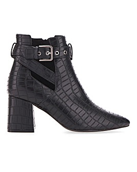 Christa Strap Heeled Boot Extra Wide Fit