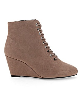 Bailey Lace Up Wedge Boot Extra Wide Fit
