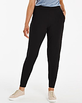 Petite Stretch Jersey Jogger Tapered Trousers
