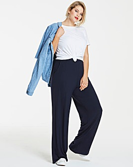Wide Leg Stretch Jersey Trousers Regular