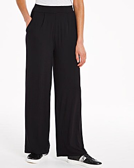 Wide Leg Stretch Jersey Trousers Short