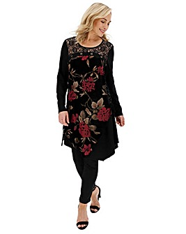 Joe Browns Floral Velour Tunic
