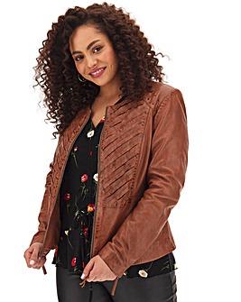 Joe Browns Plaited Leather Jacket