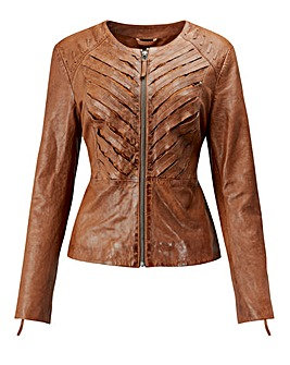 Joe Browns Plaited Leather Jacket
