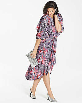 Simply Be Printed Velvet Knot Dress