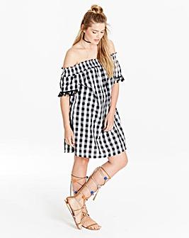 Simply Be Tassel Detail Bardot Dress