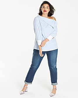Simply Be One Shoulder Shirt