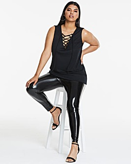Simply Be Edited By Amber Vinyl Legging
