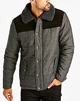 Fenchurch Mitchel Contrast Cord Padded Chambray Jacket