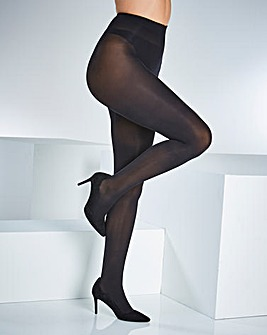 Naturally Close 2 Pack Opaque 70 Denier Black Tights