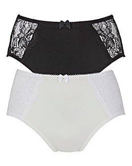 2Pack Ella Lace Black/White Briefs