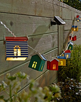 10 Solar Beach Hut String Lights