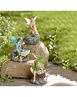 Smart Garden Set of Three Fairy Solar Ornaments