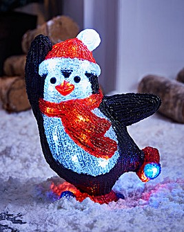 Acrylic Penguin with Hat