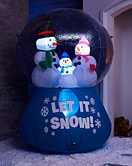 Inflatable 6ft Blue Snowglobe