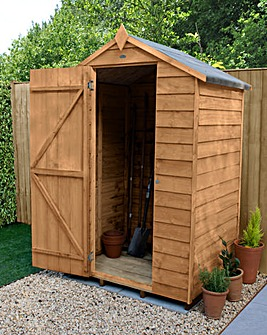 Forest Overlap Dipped 4 x 3 Apex Shed
