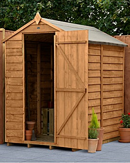 Forest Overlap Dipped 4x6 Apex Shed with No Window