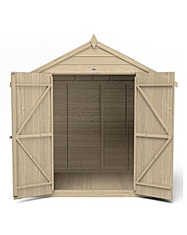 Forest Overlap Pressure Treated 5x7 Apex Shed with Double Doors