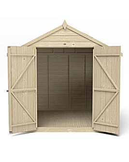Forest Overlap 7 x7 Double Door Shed