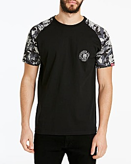 Fenchurch Camo Raglan T-shirt