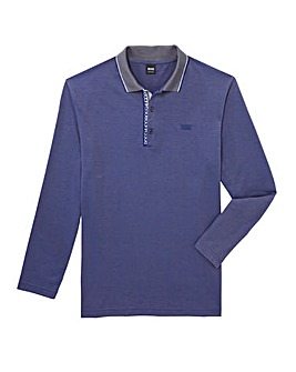 BOSS Athleisure Mighty Long Sleeve Tipped Polo