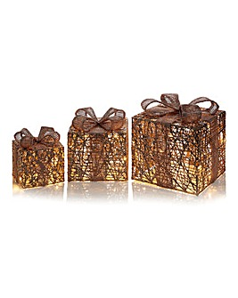 Set of 3 Twinkling Parcels