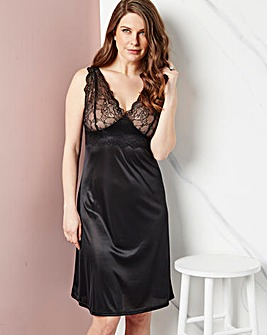 Single Lace Full Slip Black, L41