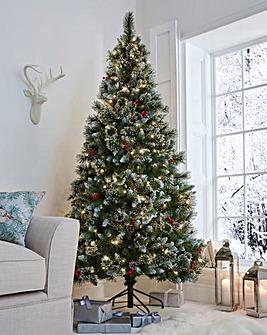 Sugar Pine Iced Premium Pre-Lit Tree