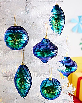 Sequin Glitter Ball Tree Decorations