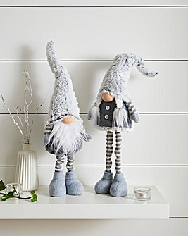 Pair of Standing Grey Gonks