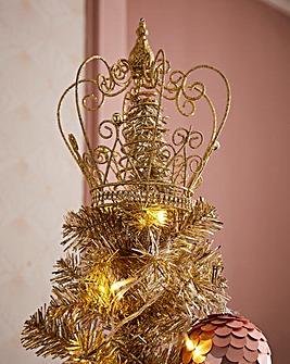 Glitter Crown Tree Topper