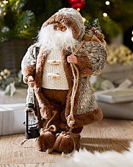 Grey Woodland Santa