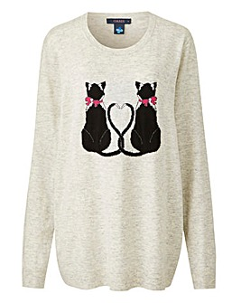 Oasis Curve Love Kittens Jumper
