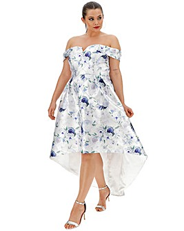 Chi Chi London Floral Dip Hem Dress