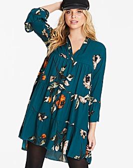 AX Paris Curve Tiered Floral Dress
